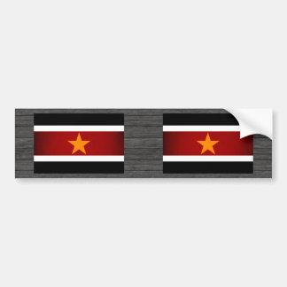 Monochrome Suriname Flag Bumper Stickers