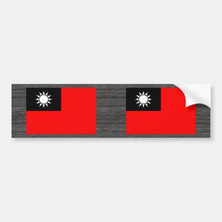 Monochrome Taiwan Flag Bumper Stickers
