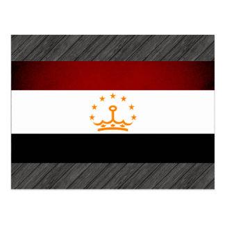 Monochrome Tajikistan Flag Postcard