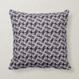 Monochrome teddy collage mosaic cushion