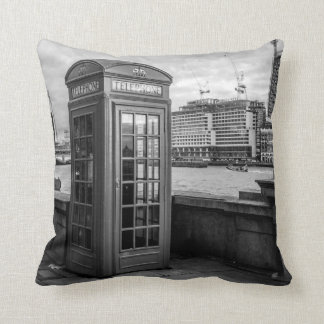 Monochrome Telephone Booth London Cushion