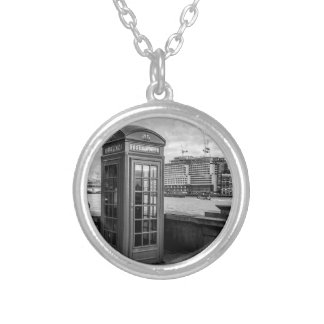 Monochrome Telephone Booth London Necklace