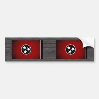 Monochrome Tennessee Flag Bumper Sticker