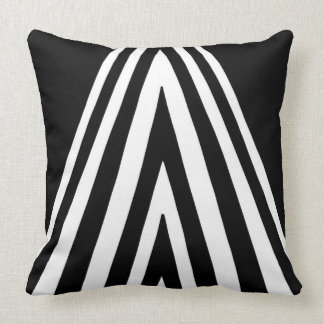 Monochrome Triangle Design Pattern Cushion