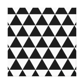 Monochrome Triangle Pattern Canvas Print