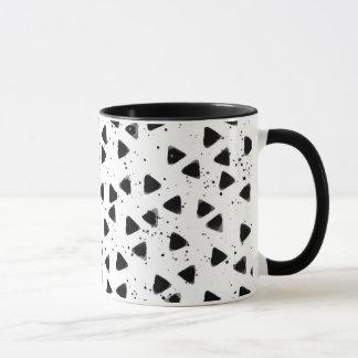 Monochrome Triangle Shape Pattern Stylish Mug