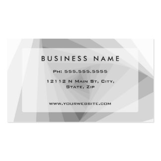 Monochrome Triangular Abstract Geometric Spiral Double-Sided Standard Business Cards (Pack Of 100)