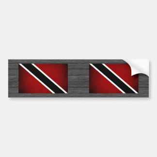 Monochrome Trinidad and Tobago Flag Bumper Sticker
