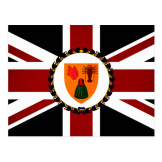 Monochrome Turks and Caicos Islands Flag Postcard