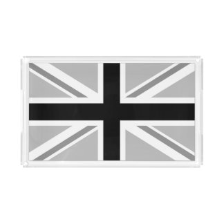 Monochrome Union Jack/Flag Acrylic Tray