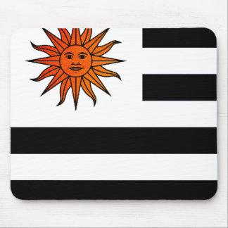 Monochrome Uruguay Flag Mousepad