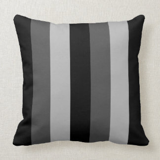 Monochrome Vertical Striped Design Cushion