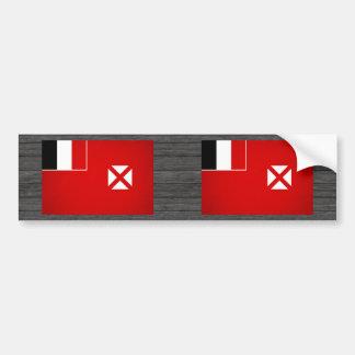 Monochrome Wallis and Futuna Flag Bumper Stickers