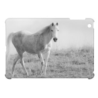 Monochrome white horse iPad mini covers