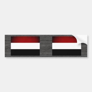 Monochrome Yemen Flag Bumper Sticker