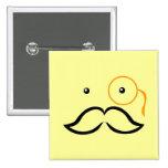 Monocle and Moustache Pinback Button