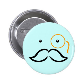 Monocle and Mustache 6 Cm Round Badge