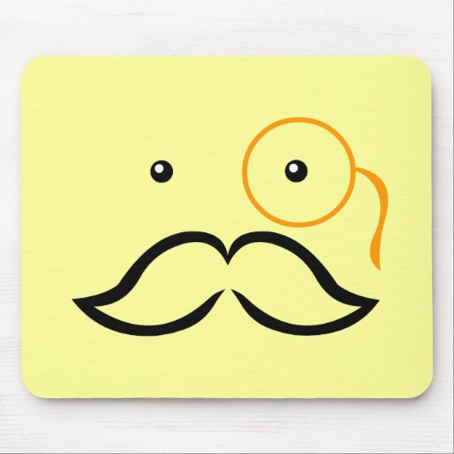 Monocle and Mustache Mousepads