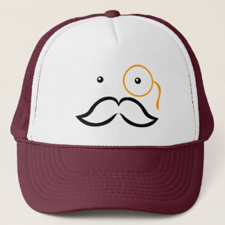 Monocle and Mustache Trucker Hat