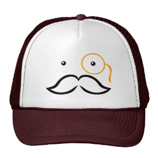 Monocle and Mustache Trucker Hats