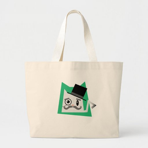 Monocle Cat Canvas Bags