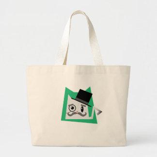 Monocle Cat Jumbo Tote Bag