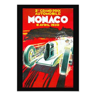 Monoco Grand Prix Vintage Travel Advertisement Card
