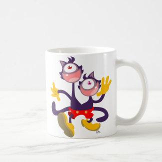 Monocular Cats in Tandem Walk mug