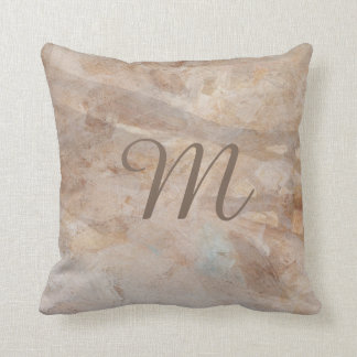 Monogram 2-sided Digital Abstract Pillow