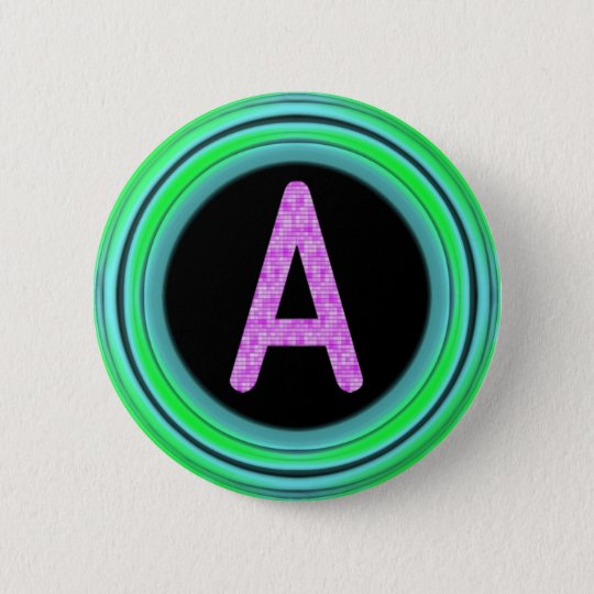 "Monogram ""A"" 6 Cm Round Badge"