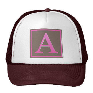 monogram a cap