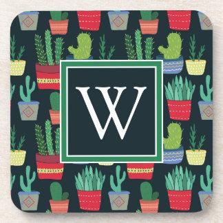 Monogram | A Crowd of Cactus Coaster