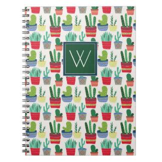 Monogram   A Crowd of Cactus Notebook