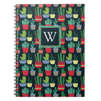 Monogram | A Crowd of Cactus Notebooks