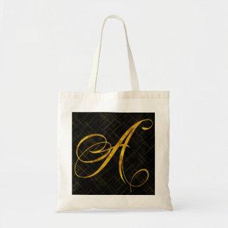 Monogram A Faux Gold Foil Metallic Letter Design
