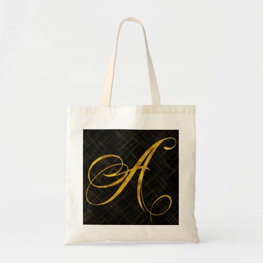 Monogram A Faux Gold Foil Metallic Letter Design