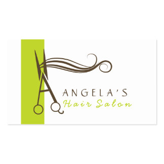 monogram A hair salon business cards