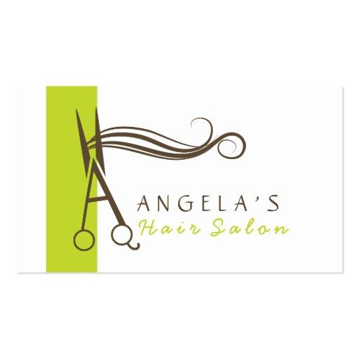monogram (A)hair salon business cards