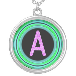 "Monogram ""A"" Round Pendant Necklace"