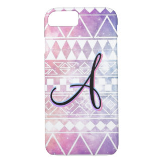 "Monogram ""A"" on a Pastel, Chevron, Galaxy. iPhone 8/7 Case"