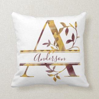 Monogram A - Watercolor - Personalised Cushion