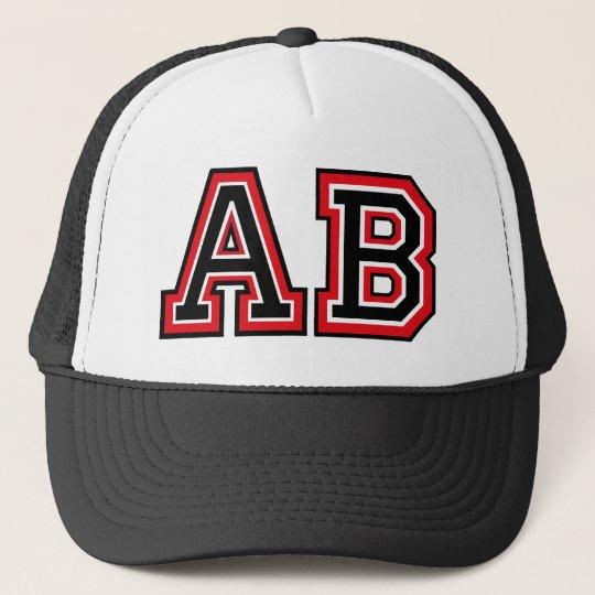 Monogram 'AB' Trucker Hat
