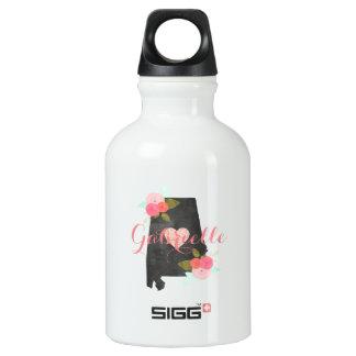Monogram Alabama State Watercolor Floral & Heart Water Bottle