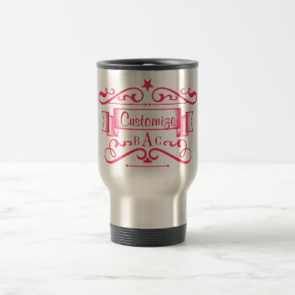 Monogram and Custom Text Travel Mug