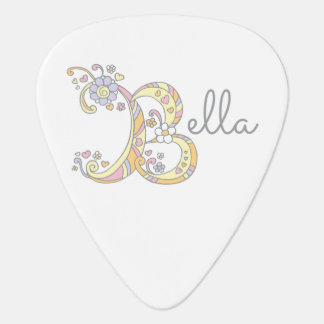 Monogram and name Bella custom guitar picks