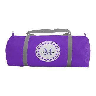 Monogram and Name Gym Duffel Bag
