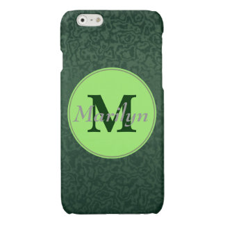 Monogram and Name on Emerald Green iPhone 6 Plus Case
