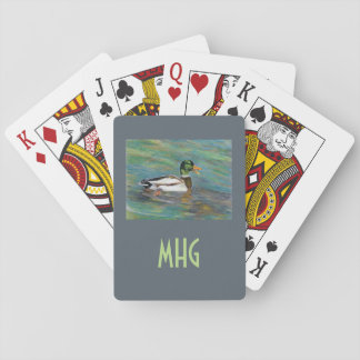 Monogram and Photo Template Playing Cards