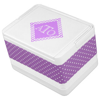 Monogram and Polka Dots Igloo Cooler