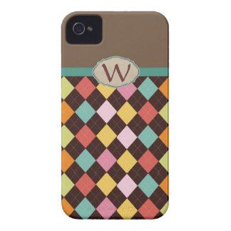 Monogram argyle diamond pattern Case-Mate iPhone 4 case